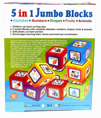 Homeshopeez Ekta Learning & Educational 5 in 1 Blocks