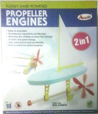 Annie Rubber Band Powered Propeller Engines(Multicolor)