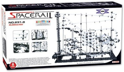 Emob SpaceRail Marble Roller Coaster with Steel Balls 40000 mm Long Never Ending RollerCoaster Learning Educational Game 231- Level 8