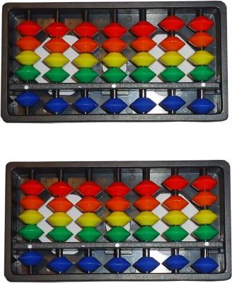 SAE FASHIONS Multicolor 17 Rod Abacus Kit Set Of 2