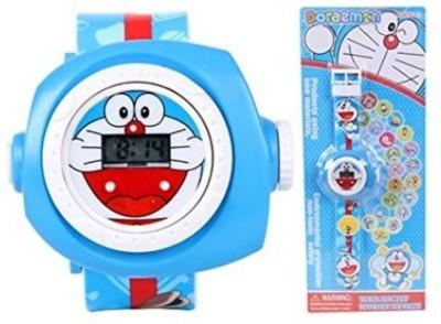 R & M ENTERPRISES Doraemon 24 Images Protector watch(Blue)