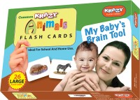 Mind Wealth Krazy Common Animals Flash Cards - My Baby'S Brain Tool(Multicolor)