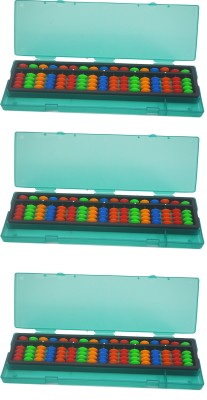 Djuize 17 Rod Multicolor Abacus with box Type -2 Set of 3