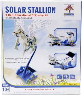 Solar Tree Solar Stallion, 3 in 1 Educational DIY Solar Kit