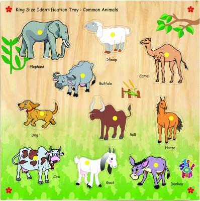 Skillofun King Size Identification Tray Common Animals