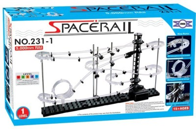Emob SpaceRail Marble Roller Coaster with Steel Balls 5000 mm Long Never Ending RollerCoaster Learning Educational Game 231- Level 1