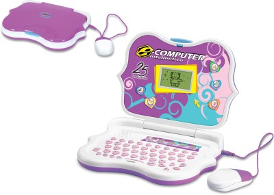 Toyhouse Educational Laptop with 25 functions, Mouse, LED Screen, Pink