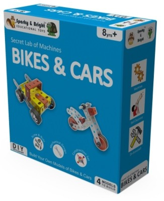 Sparky & Bright Secret Lab Of Machines - Bikes & Cars - 4 in 1