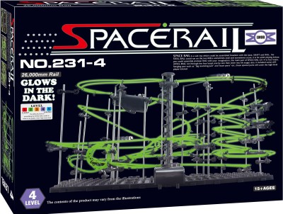 Emob SpaceRail Marble Roller Coaster with Steel Balls 26000 mm Long Never Ending RollerCoaster Learning Educational Game 231-4 Radium