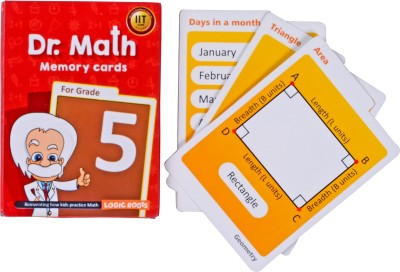 Logic Roots Dr Math (Grade 5) - Memory Flash Cards for Grade 5 Kids for Concepts, Clarity and Recall