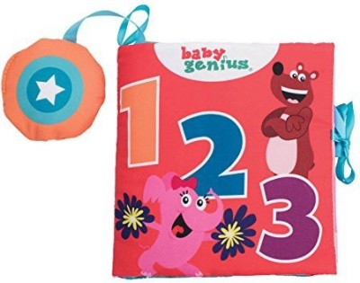 Baby Genius 1-2-3 Count Soft Activity Book with Sound for Infants