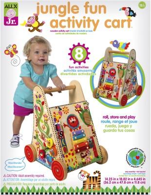 Alex Toys Jungle Fun Activity Wooden Push Cart