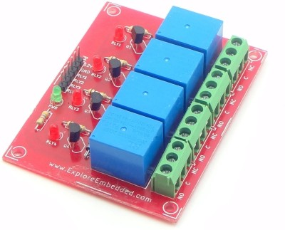 Explore Embedded Four Channel Relay Board 12V
