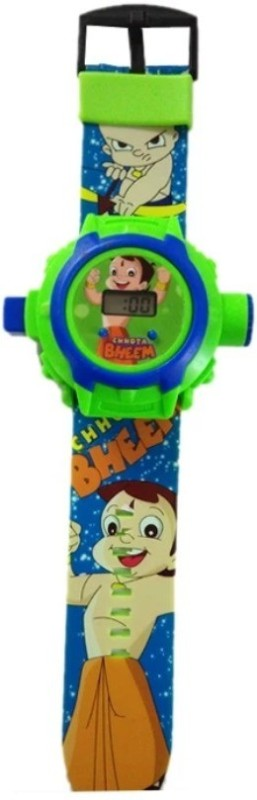 Ktkashish Toys Kashish Bhem projecter Kids Watch(Green)