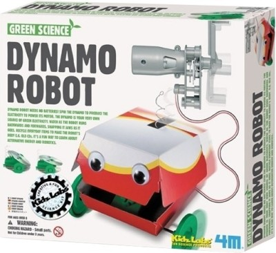 4M Kidz Labs-Green Science Dynamo Robot