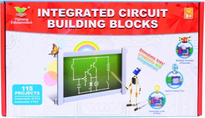 Planet of Toys Science Integrated Electronic Circuit Building Blocks - Create Exciting 115 Projects