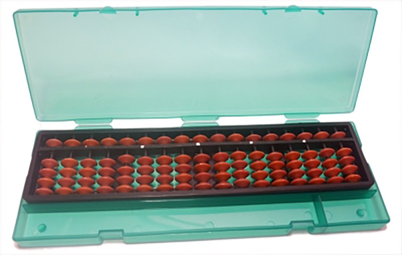 Sae Fashions Brown 17 Rod Abacus Kit With Box(Black)