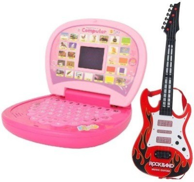 Shop & Shoppee 2in1 Educational laptop with Roackband Guitar