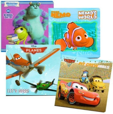 Disney Favorites Board Books - Planes, Finding Nemo, Cars, Monsters University