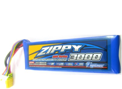Rotobotix Zippy Flightmax 3000mah -20c Lipo Battery(Blue)