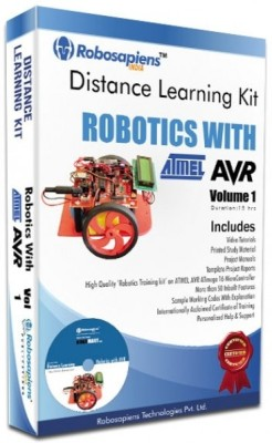 Robomart Robotics with ATMEL AVR Complete Learning Kit