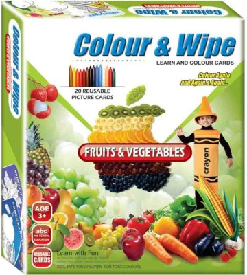Lotus Applefun Colour & Wipe Fruits and Vegetables