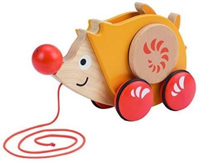 Hape Hape - Walk-A-Long Hedgehog Wooden Pull Toy(Multicolor)