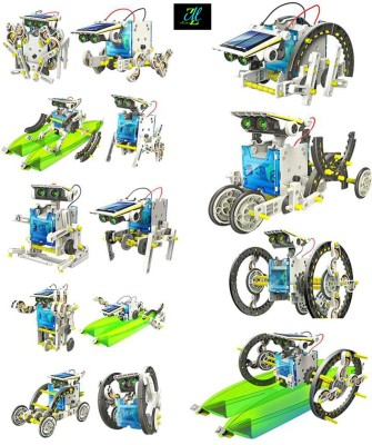 Montez 14 In 1 Educational Solar Robot Kit