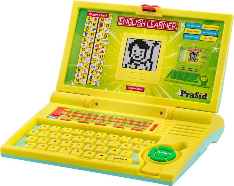 Prasid English Learner Computer Toy Educational Laptop LemonSky(Yellow, Blue)