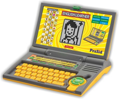 Prasid English Learner Computer Toy Educational Laptop Yellow