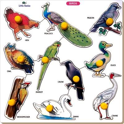 Little Genius Birds Tray - Large With Big Knob