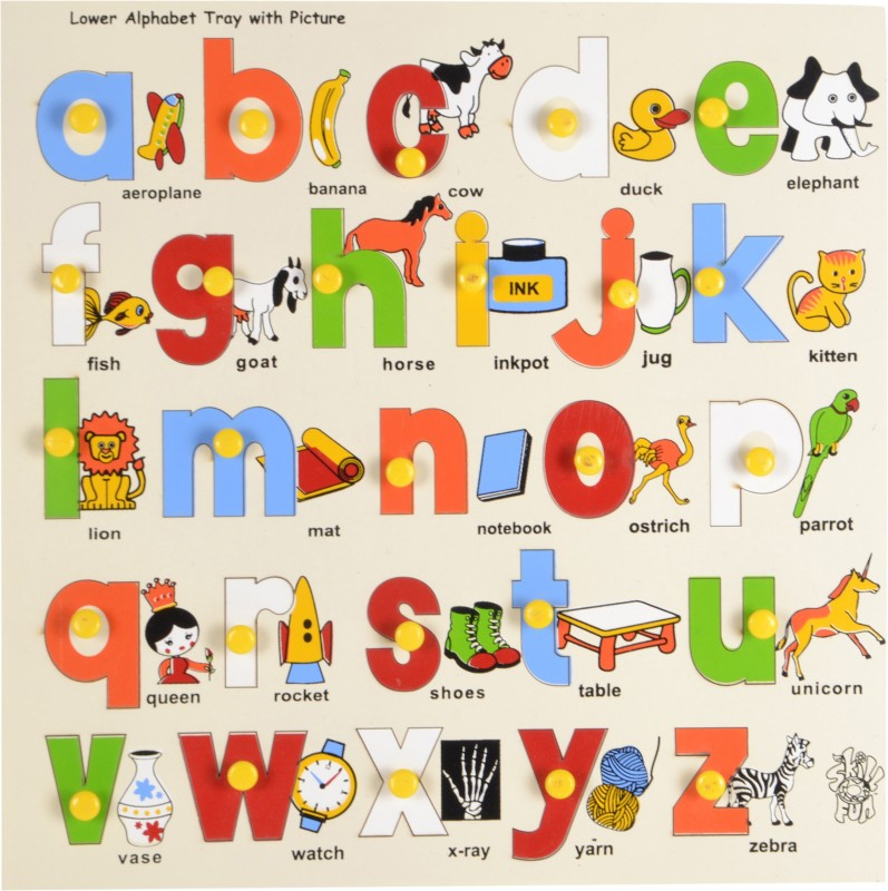 Skillofun Lower Alphabet Tray with Picture