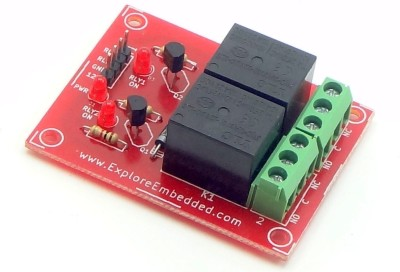 Explore Embedded Two Channel Relay Board 12V