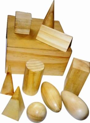 Kinder Creative Geometrical Solids Wood Finish with Box