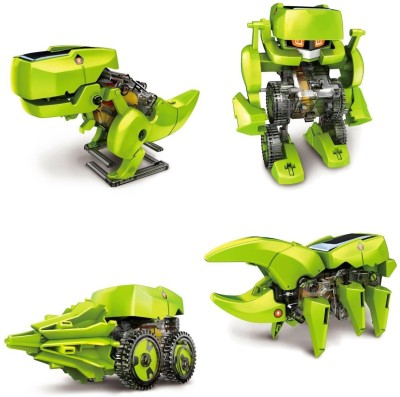 Cute Sunlight Solar Robot 4 in 1 Educational Toy Transform into 4 different model