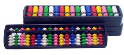 SAE FASHIONS Multicolor 17 Rod Abacus Kit Set Of 3
