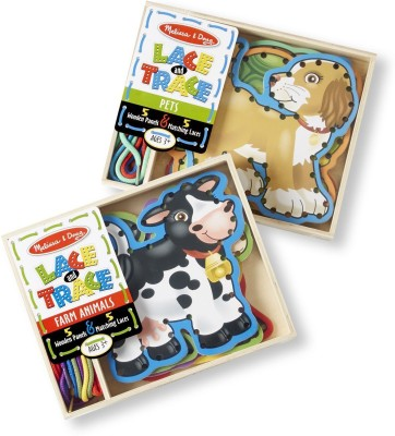 Melissa & Doug Lace and Trace Bundle Pets and Farm Animals