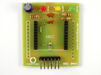 RoboIndia XBee adaptor and explorer (breakout board) (5V operated)