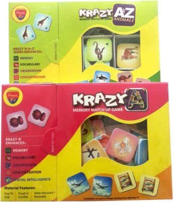 Mind Wealth Krazy Combo Games Set 7 (A to Z Animals and Krazy A mm)