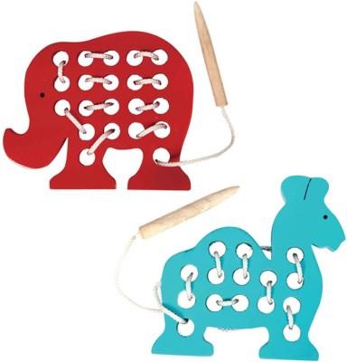 Skillofun SEWING TOYS ELEPHANT + CAMEL(Multicolor)