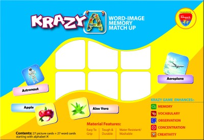 Mind Wealth Krazy A - Word Image Memory Match up Game
