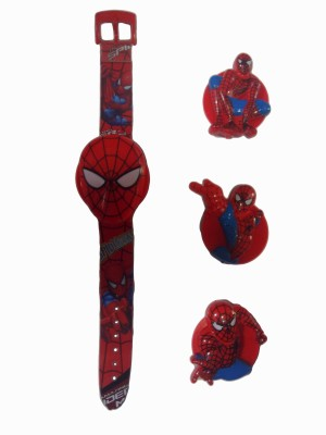 Chamunda Gifts spiderman dial changer watch(Red)