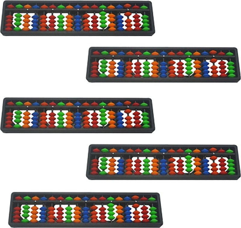 Sae Fashions Sae Multicolor 17 Rod Abacus Kit Set Of 5(Multicolor)