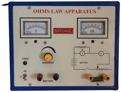 nsaw Ohms Law Apparatus With Power Supply(Multicolor)