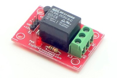 Explore Embedded Single Channel Relay Board 5V