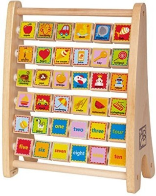 Hape Hape - Early Explorer - Alphabet Abacus Wooden Counting Toy(Multicolor)