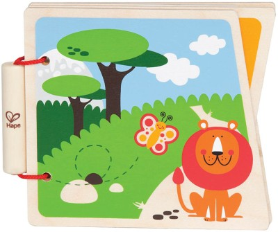 Hape Toys Wooden At The Zoo Book