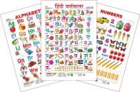 Spectrum Set of 3 Educational Wall Charts (English Alphabets, Hindi Varnamala & Numbers)(Multicolor)