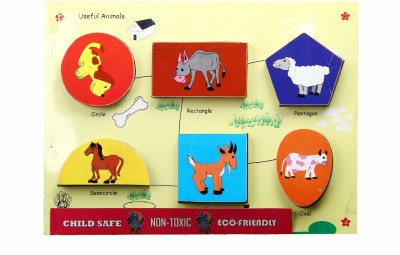 Skillofun Fun Geo Shape Tray - Useful Animal (Raised)