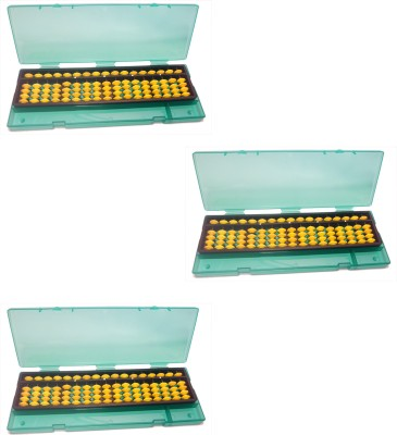 Djuize 17 Rod Yellow Abacus With Box-Pack Of 3
